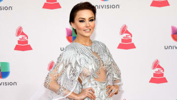 LAS VEGAS, NV - NOVEMBER 17:  Actress Angelique Boyer attends The 17th Annual Latin Grammy Awards at T-Mobile Arena on November 17, 2016 in Las Vegas, Nevada.  (Photo by Ethan Miller/Getty Images )