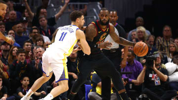 Klay Thompson may be regretting his words to LeBron James  and the Cavaliers today.