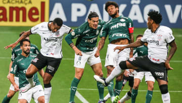 Equipes jogam na Neo Química Arena | 2020 Brasileirao Series A: Corinthians v Palmeiras Play Behind Closed Doors Amidst the Coronavirus