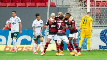 2020 Brasileirao Series A: Flamengo v Palmeiras Play Behind Closed Doors Amidst the Coronavirus (COVID-19) Pandemic