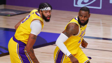 Anthony Davis and LeBron James, 2020 NBA Finals - Game One