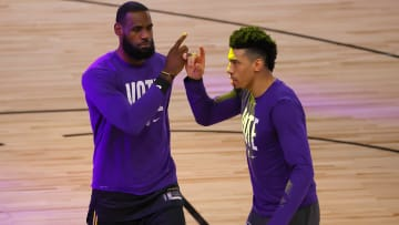LeBron James and Danny Green