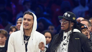 Atlanta Hawks point guard Trae Young and rapper Quavo at All-Star Weekend
