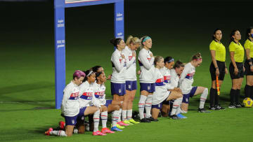 Eight of the starting XI took the knee for the USA ahead of their match against Canada