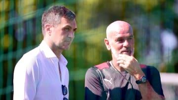 Paolo Maldini e Stefano Pioli