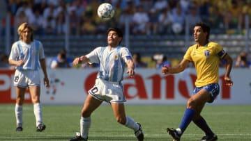Maradona contra Brasil en el Mundial