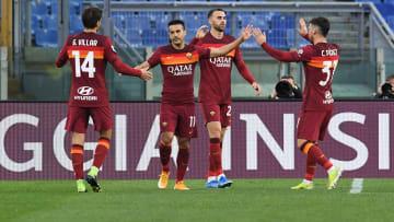 L'esultanza di Mayoral dopo il gol al Bologna