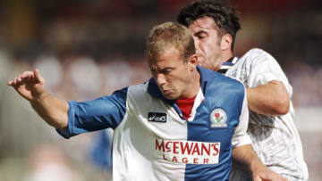 Alan Shearer banging them in wearing a McEwan's Lager Blackburn kit? Go on then!
