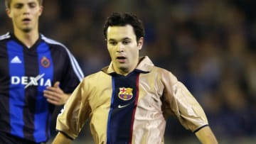 A young Iniesta in his first season