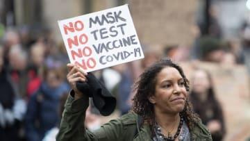 Anti-Lockdown March In Bristol