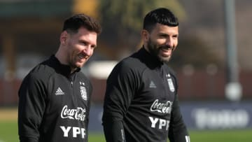 Aguero had been expecting to play with Lionel Messi