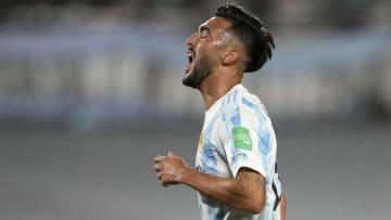 Argentina v Bolivia - FIFA World Cup 2022 Qatar Qualifier - Nico González se lamenta.
