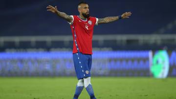 Arturo Vidal jugando la Copa América