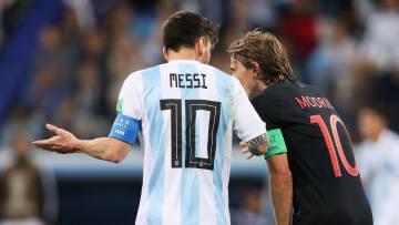 Lionel Messi e Luka Modric já bateram na trave