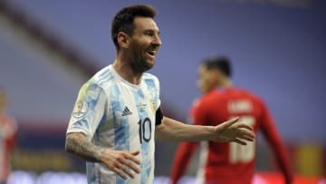 Lionel Messi has equalled Argentina's appearance record