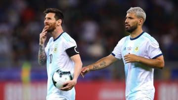 Messi y Agüero con la selección de Argentina