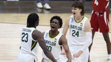 Houston vs Baylor prediction and pick ATS and straight up for Saturday's Final Four March Madness NCAA Tournament game.