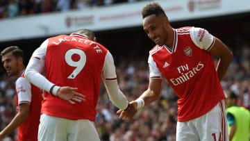 Alexandre Lacazette et Pierre-Emerick Aubameyang noue une relation fusionelle à Arsenal.