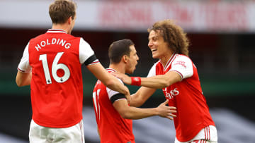 Cedric Soares, David Luiz, Rob Holding