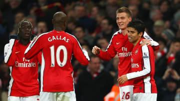 William Gallas wore Arsenal's number ten right after Dennis Bergkamp