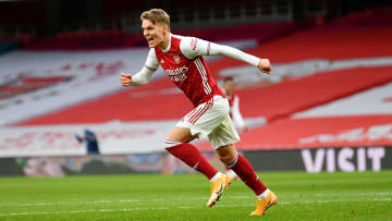 Martin Odegaard made 20 appearances for the Gunners