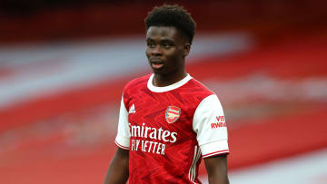 Bukayo Saka is an injury doubt for the Slavia Prague game