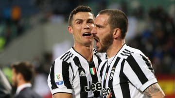 Leonardo Bonucci et Cristiano Ronaldo la saison passée à la Juventus Turin
