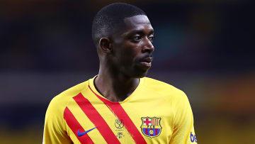 Ousmane Dembele sous le maillot du Barça.