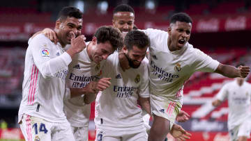 Real celebrate the winning goal
