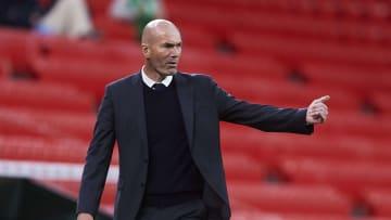 Zinedine Zidane lorsqu'il était entraîneur au Real Madrid