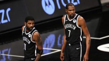 Kyrie Irving and Kevin Durant, Atlanta Hawks v Brooklyn Nets