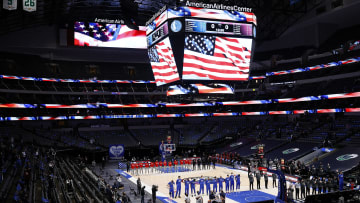 The National Anthem in Dallas.