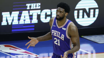 Joel Embiid during a collapse.