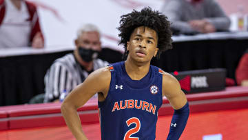 Sharife Cooper is projected to be picked near the Knicks' selections.