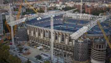 The Santiago Bernabeu is being renovated