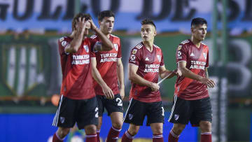 "Banfield v River Plate - Copa de la Liga Profesional 2021 - River se retira con caras largas luego de la derrota ante el ""Taladro""."