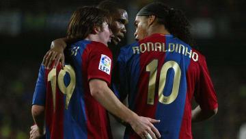 Ronaldinho e Eto'o estão na lista de forma incontestável
