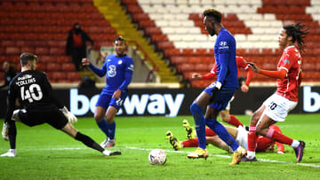 Tammy Abraham pokes home to get the game's only goal