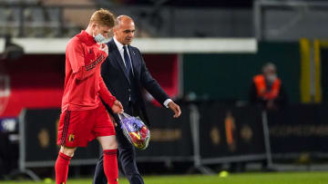 De Bruyne is expected to miss out against Russia