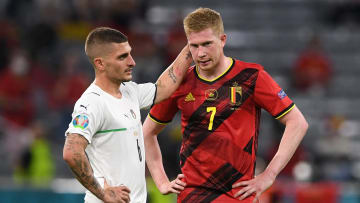 Kevin De Bruyne was suffering with ankle ligament damage ahead of Belgium's Euro 2020 clash with Italy