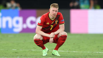 De Bruyne left the field at the start of the second half