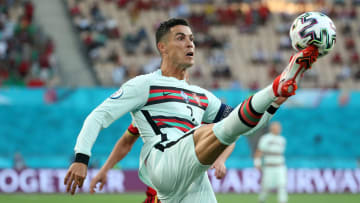 Cristiano Ronaldo in Portugal's last match in the Eurocup
