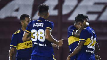Boca Juniors v Claypole - Copa Argentina 2021 - Boca festeja el gol de Villa.
