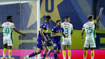 Boca Juniors v Defensa y Justicia - Copa De La Liga Profesional 2021 - Tevez festeja su gol.