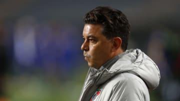 Boca Juniors v River Plate - Copa Argentina 2021. - Gallardo observa atento.