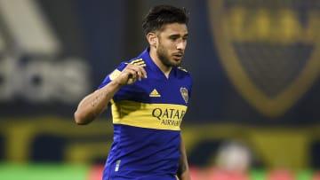 Eduardo Salvio jugando con Boca