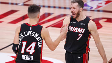 Tyler Herro and Goran Dragic