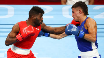 Keyshawn Davis vs Andy Cruz prediction, odds & betting lines for men's Olympic lightweight boxing gold medal bout on Sunday, August 8.