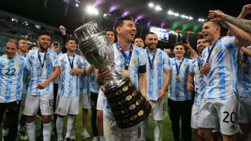 Festejos de Argentina campeón