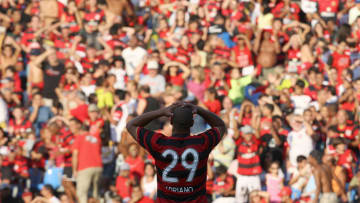 Adriano during his time with Flamengo